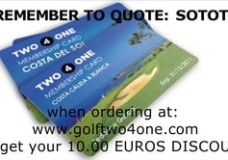 Golf Two4One Discount Card